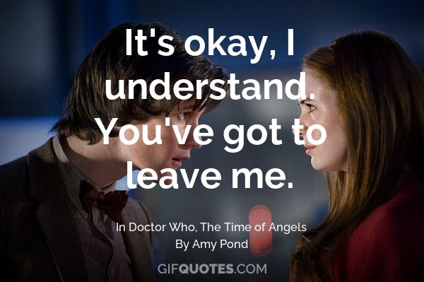 Amy Pond, the girl who waited. You've waited long enough.   GIF QUOTES