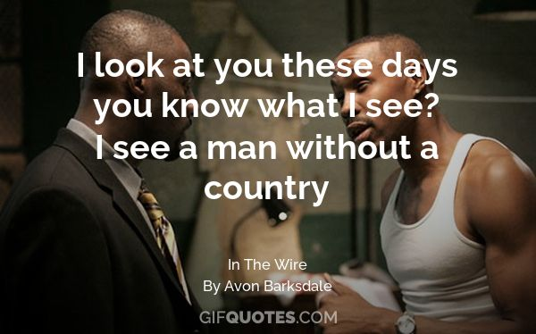 When I Look At You You Know What I See A Man Without A Country