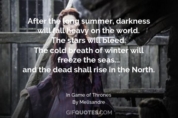 The stars will bleed  The cold breath of winter will freeze